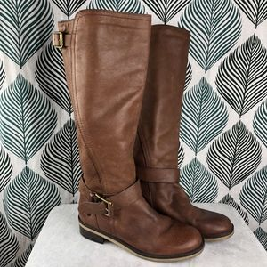 Lucky Brand Brown Women's Tall Leather Angel Boots